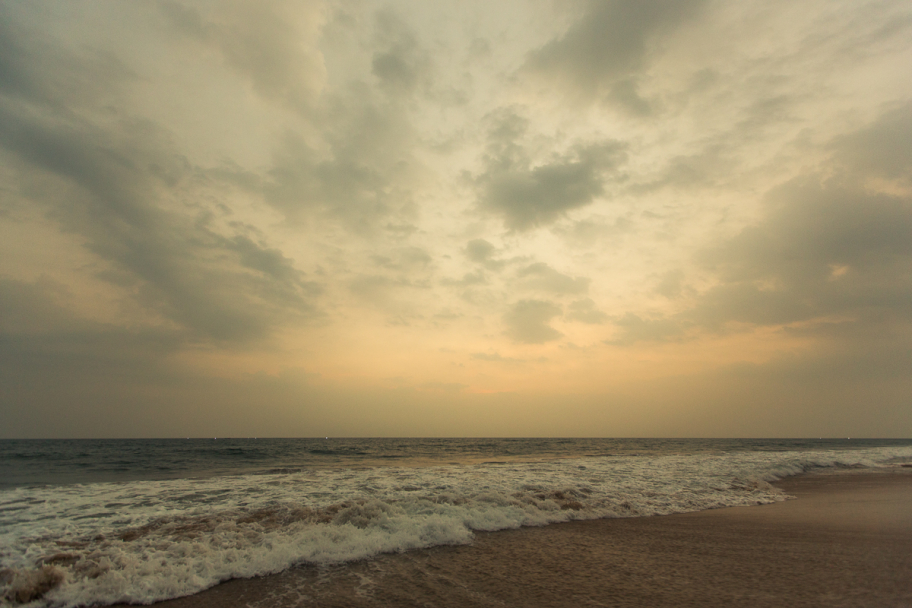 sunset @ beach: Sunset at Papanasam beach, Kerala, India
