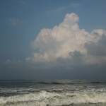 sky, waves, cloud, ocean