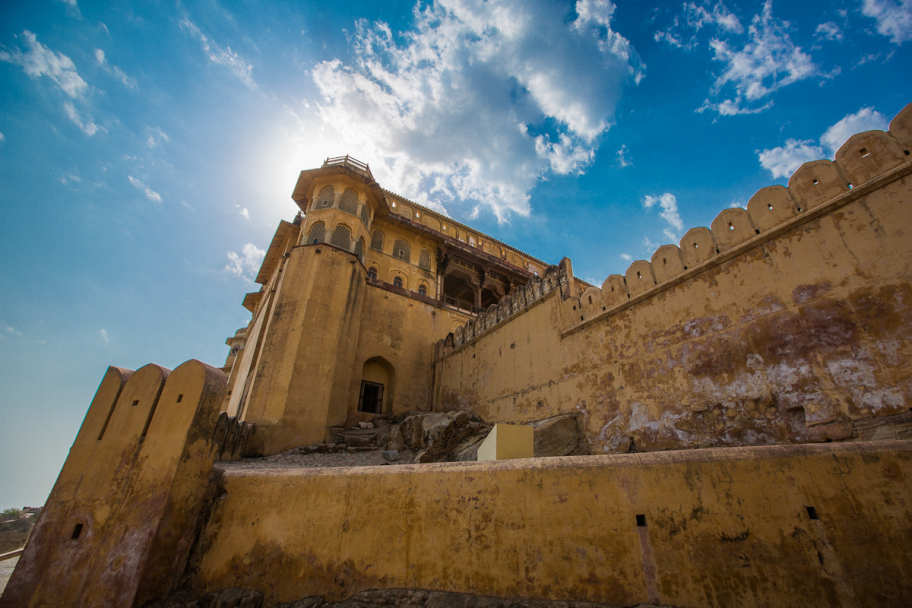 Tower of Amber Fort: Amber Fort, Jaipur, India